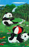 027 Panda bear 30x60 towels