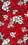 039 Red  Hibiscus Towel