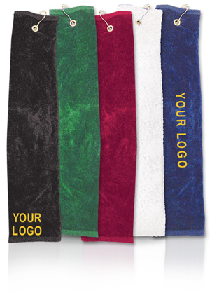 Golf Towels Whole Tri Folded Plain